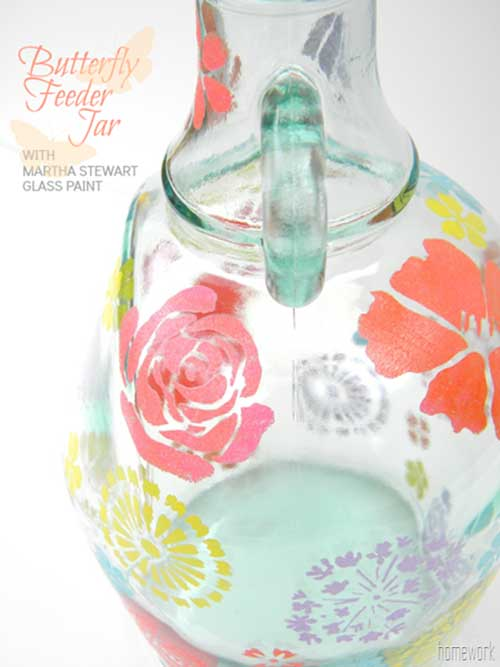 Spring Butterfly Feeder Jar