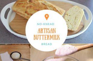 No-Knead Artisan Buttermilk Bread