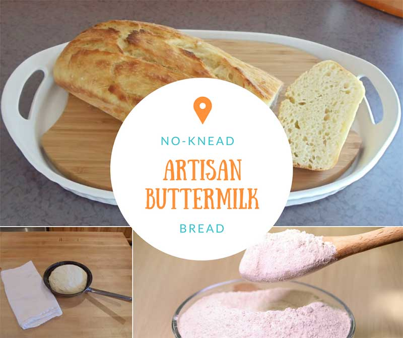 No-Knead Artisan Buttermilk Bread
