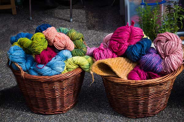 Crocheted or knitted wares