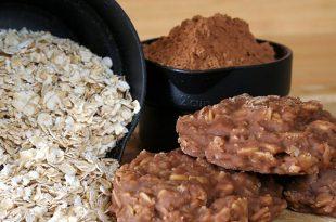 No Bake Chocolate Granola Cookies